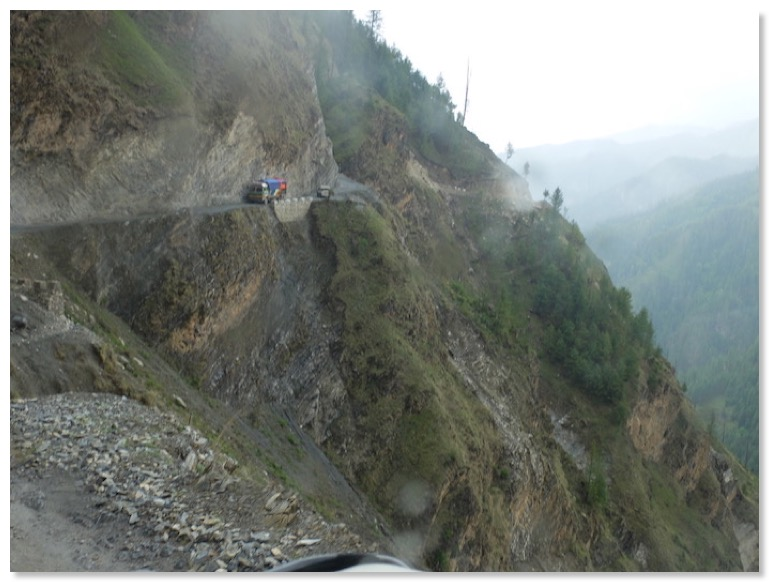 photo 4, photo of section of road on way to jumla